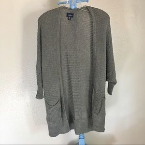 American Eagle draped cardigan duster xs